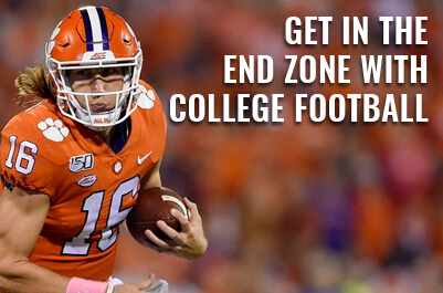 get in the end zone  with college football.