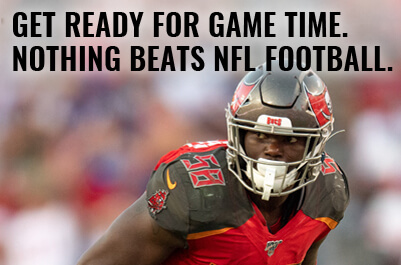 get ready for game time. nothing beats nfl football.